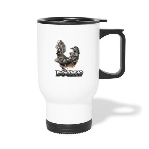 DooM49 Black and White Chicken - Travel Mug