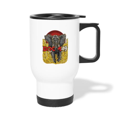 Yellow Smoke Elephant by DooM49 - Travel Mug