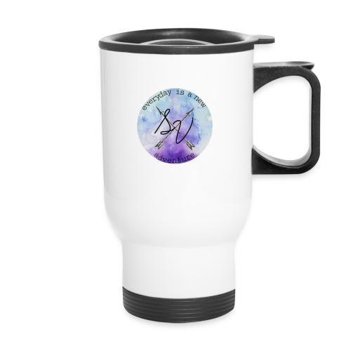 everyday is a new adventure logo - Travel Mug