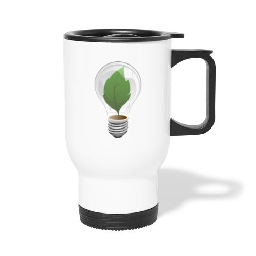 Clean Energy Green Leaf Illustration - Travel Mug
