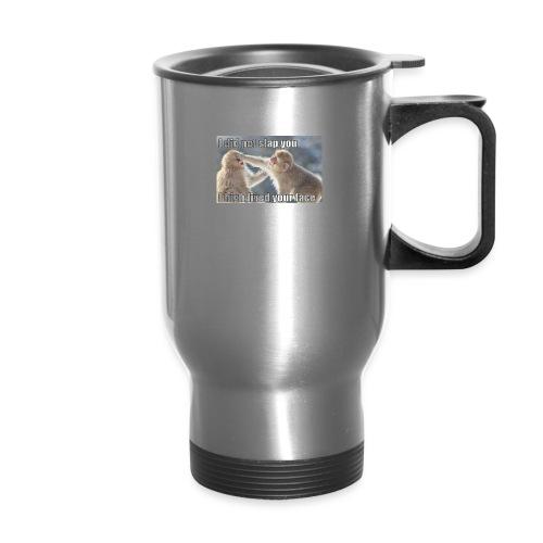 funny animal memes shirt - Travel Mug