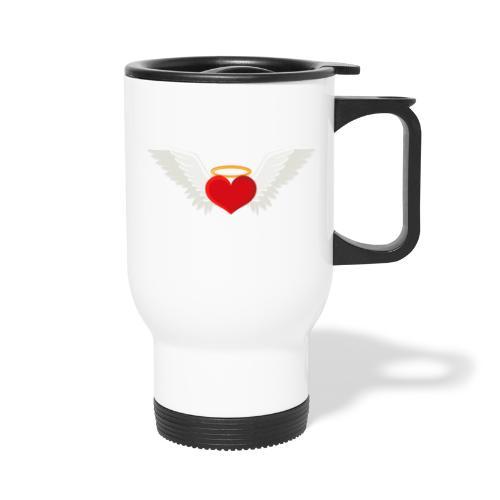 Winged heart - Angel wings - Guardian Angel - Travel Mug