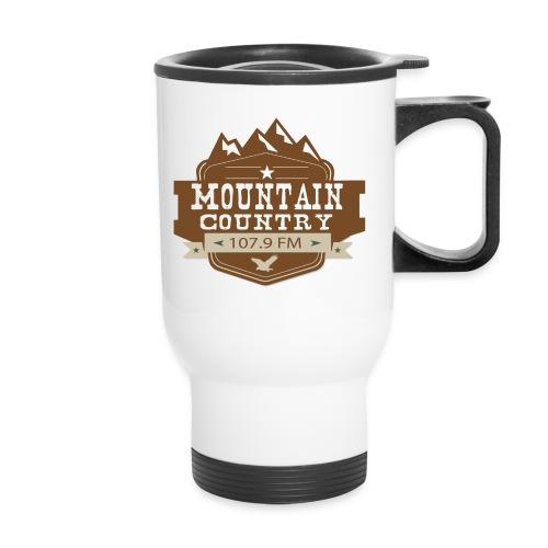 Mountain Country 107.9 - Travel Mug with Handle