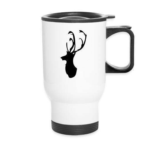 Mesanbrau Stag logo - Travel Mug