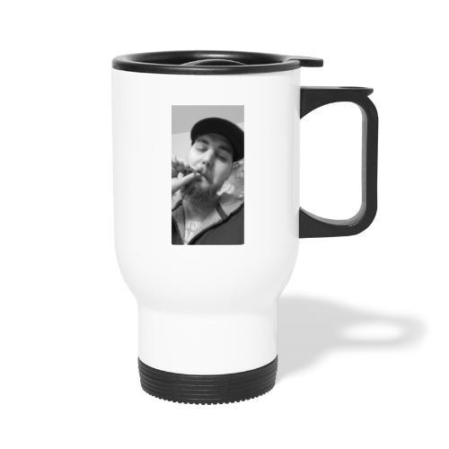 Turupxprime Hoots black n white merch line. - Travel Mug