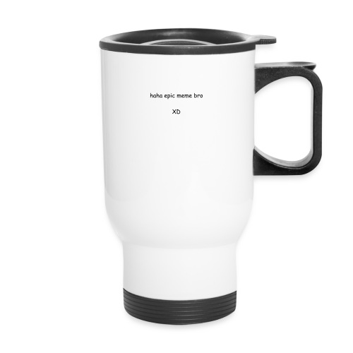 epic meme bro - Travel Mug with Handle