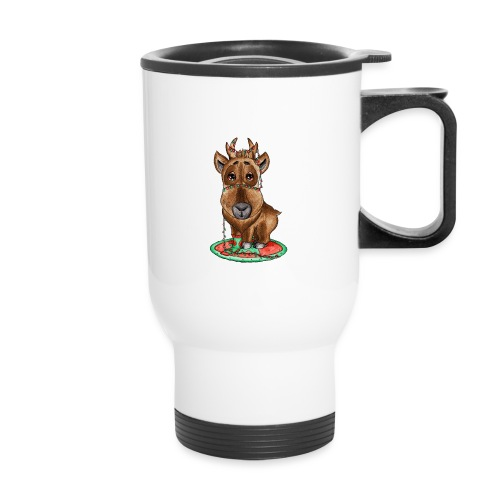 reindeer refined scribble - Travel Mug