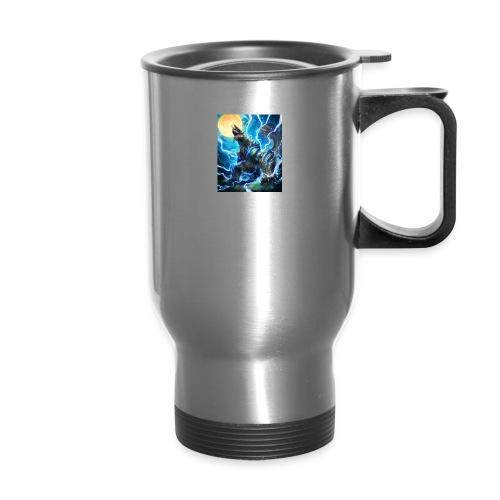 Blue lighting dragom - Travel Mug