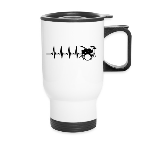 Drums Heartbeat Funny drummer - Travel Mug