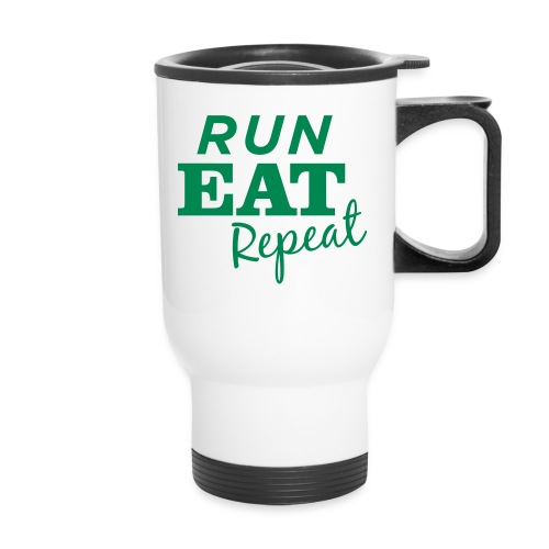 Run Eat Repeat buttons medium - Travel Mug