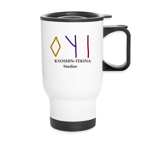 Kyoshin-Tekina Studios logo (black test) - Travel Mug