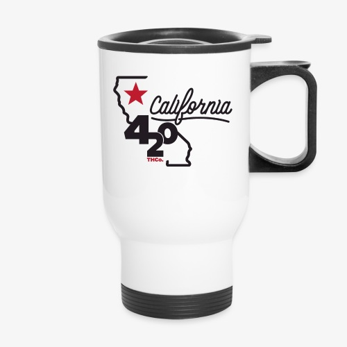 California 420 - Travel Mug with Handle