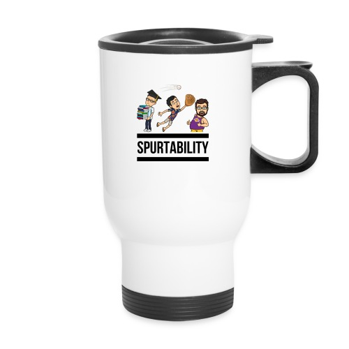 Spurtability Black Text - Travel Mug