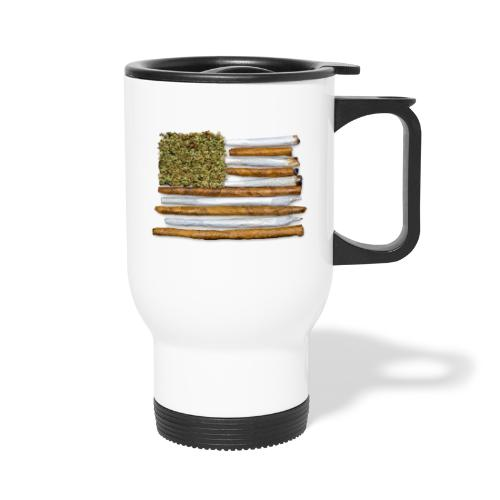 American Flag With Joint - Travel Mug