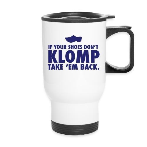 07 Klomp blue lettering - Travel Mug