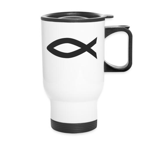 Christian fish symbol - Travel Mug
