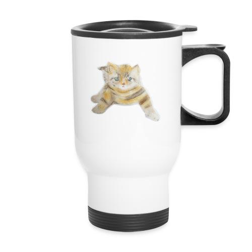 sad boy - Travel Mug with Handle