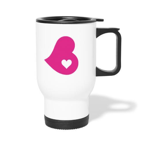 Two Hearts - Travel Mug with Handle