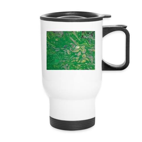 Green bubbles - Travel Mug