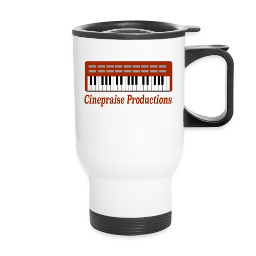 Cinepraise Logo Red Text - Travel Mug