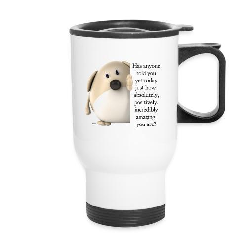 amazing dog (for light) - Travel Mug with Handle