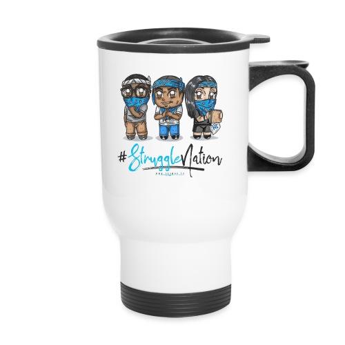 The Trio 3 (blue/black) - Travel Mug