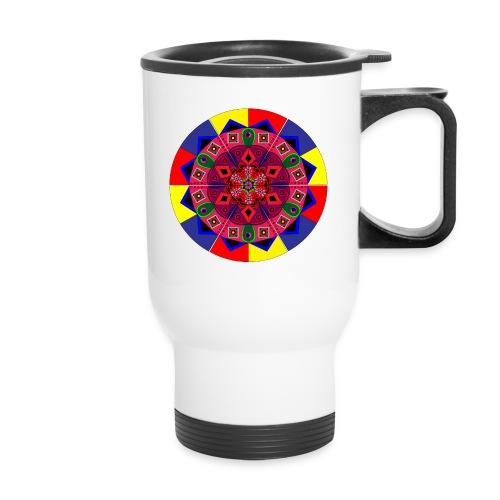 Mandala Colourful Cool Design - Travel Mug
