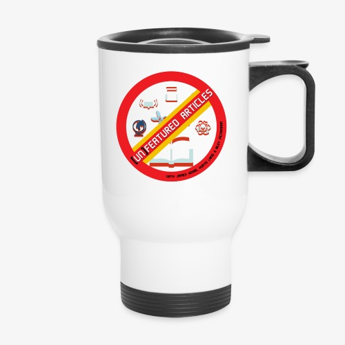unFeatured Articles Logo - Travel Mug