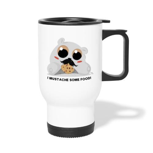 I Mustache Some Food - Travel Mug