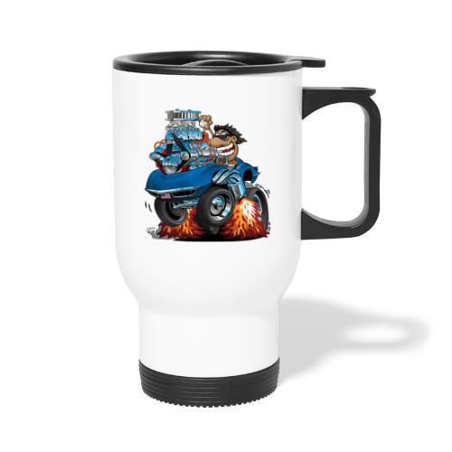 Classic '69 American Sports Car Cartoon - Travel Mug