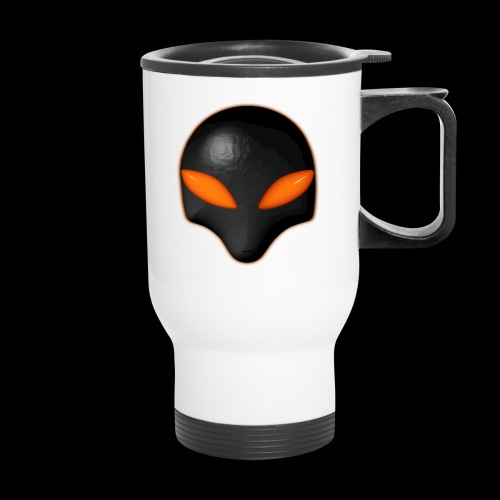 Alien Bug Face Orange Eyes - Travel Mug