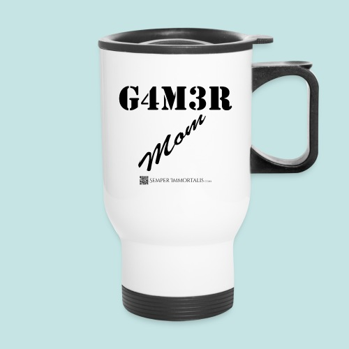 Gamer Mom (black) - Travel Mug