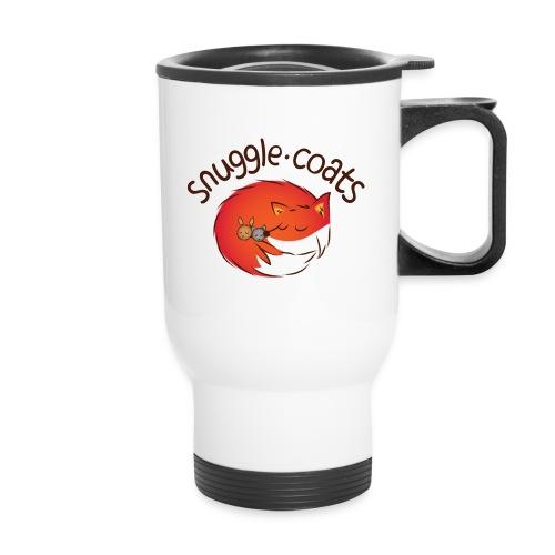 snugglecoatsfinal png - Travel Mug with Handle