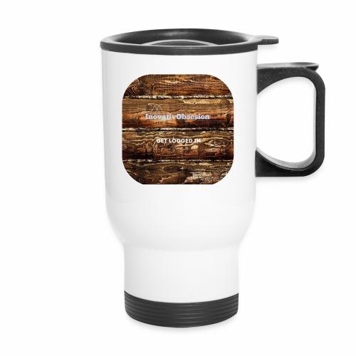 "InovativObsesion ""LOGGED IN"" apparel - Travel Mug"