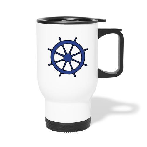 Steering Wheel Sailor Sailing Boating Yachting - Travel Mug