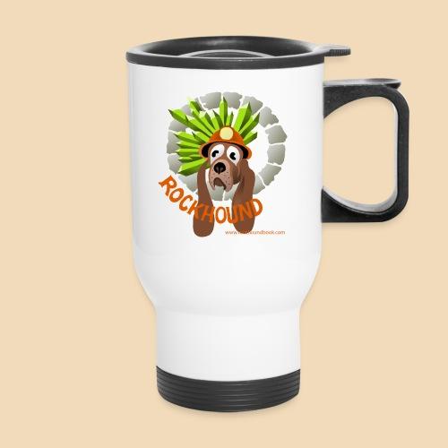Rockhound cup logo - Travel Mug with Handle
