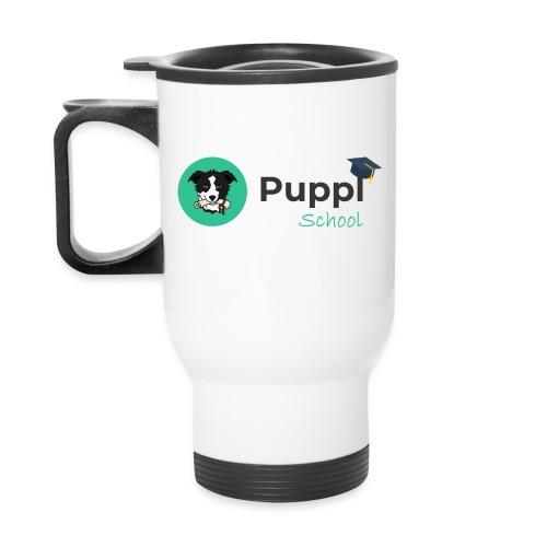 Puppl School - Full - Version 1 - Travel Mug with Handle