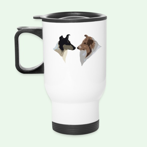 Rough Smooth Collie head - Travel Mug