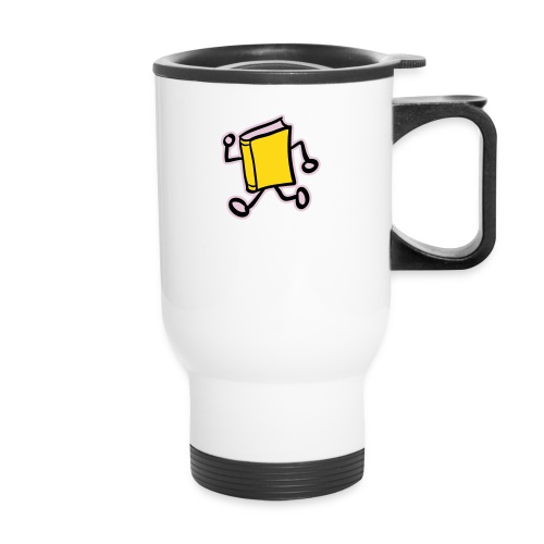 internal bally solo 3 colour white outline - Travel Mug with Handle