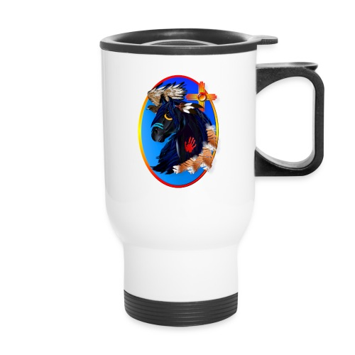 Black Stallion of Morning - Travel Mug