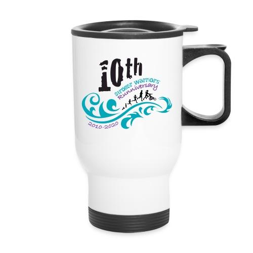 10th Anniversary Logo Color - Travel Mug with Handle