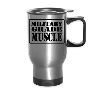 Military Grade Muscle Black - Travel Mug