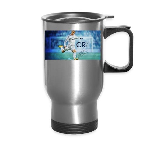 Real Madrid star Cristiano Ronaldo will open his C - Travel Mug