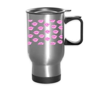 Lips with white background - Travel Mug