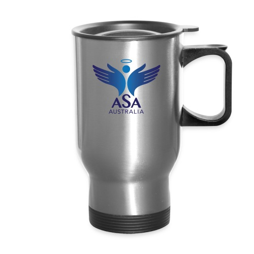 3459 Angelman Logo AUSTRALIA FA CMYK - Travel Mug