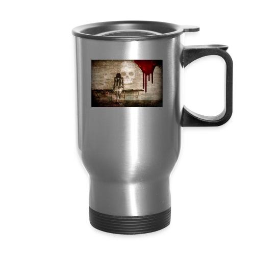 sad girl - Travel Mug