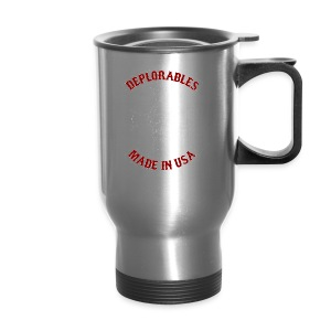 Deplorables - Made in USA - Bikers for Trump - Travel Mug