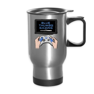 Blue Thumbs Gaming: Gamepad Logo - Travel Mug