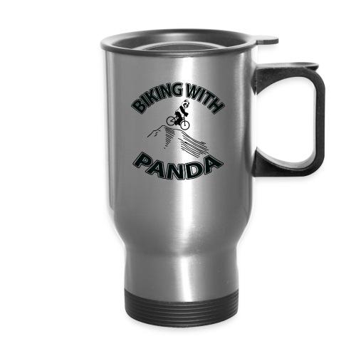 Biking with Panda - Travel Mug