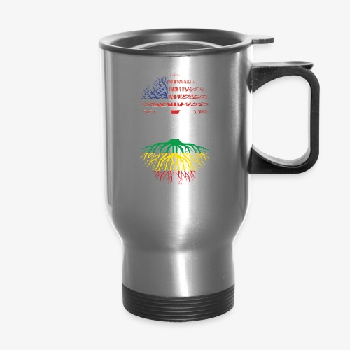 American Grown With African Roots T-Shirt - Travel Mug